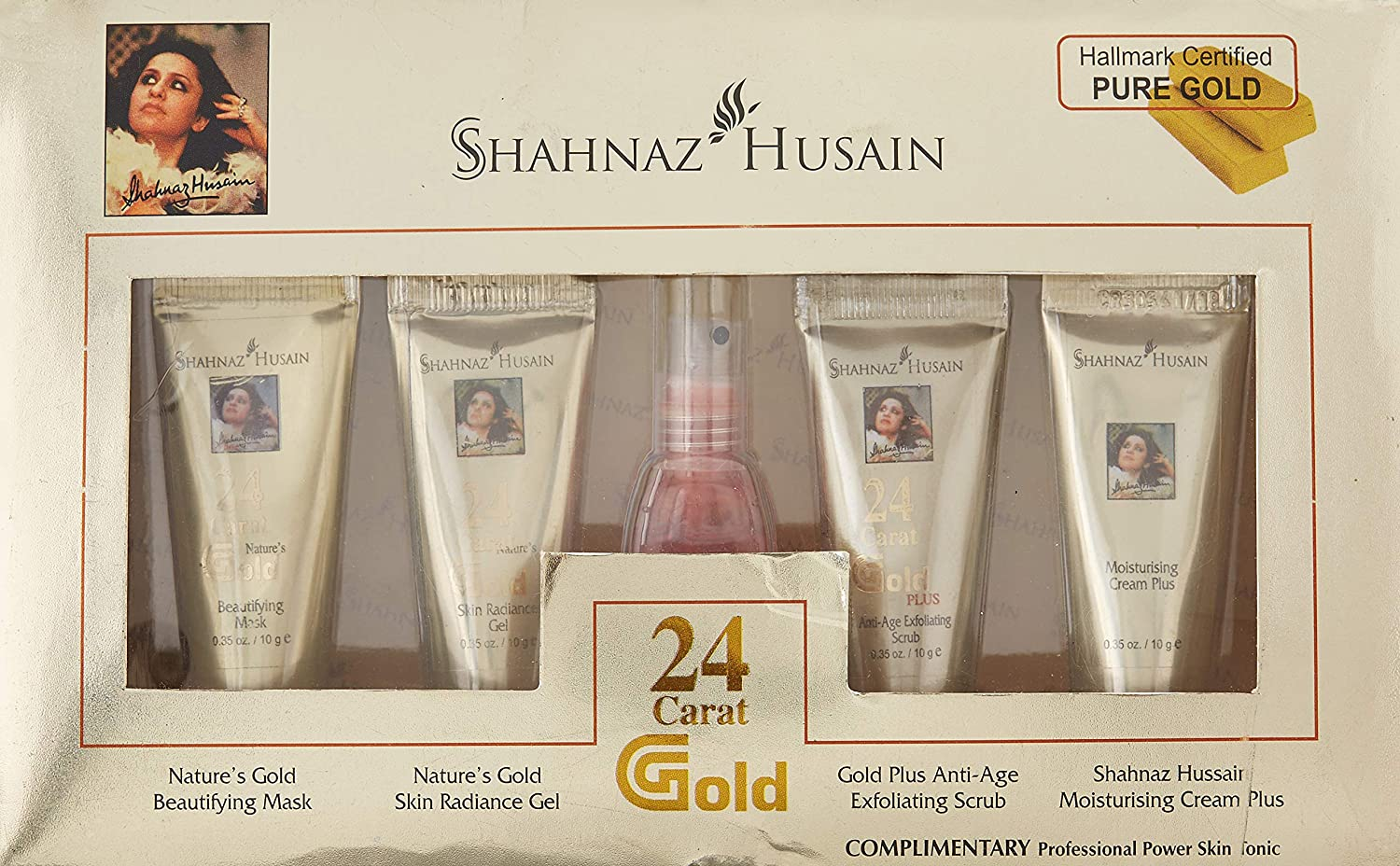 c39a440906 Shahnaz Husain Gold Facial Kit (Mini), 40g+15 ml: Amazon.in: Beauty