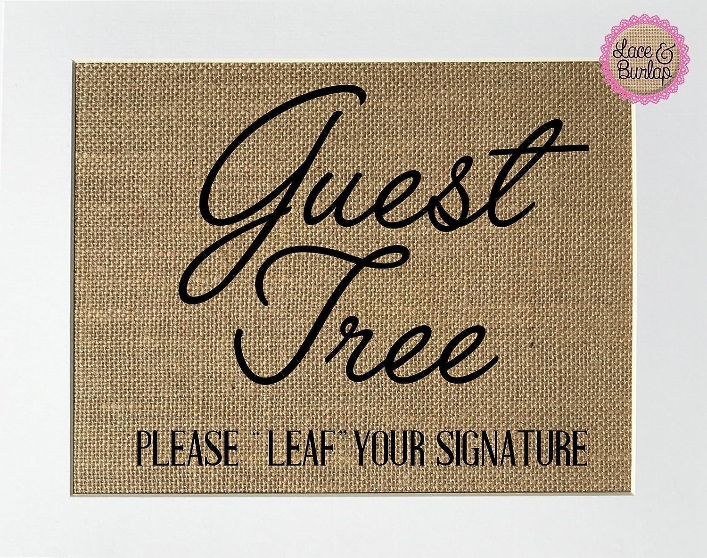 8x10 UNFRAMED Guest Tree Please
