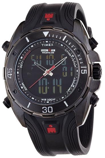 Timex Quarz T5K405SU - Reloj unisex de cuarzo, correa de resina color negro: Timex: Amazon.es: Relojes