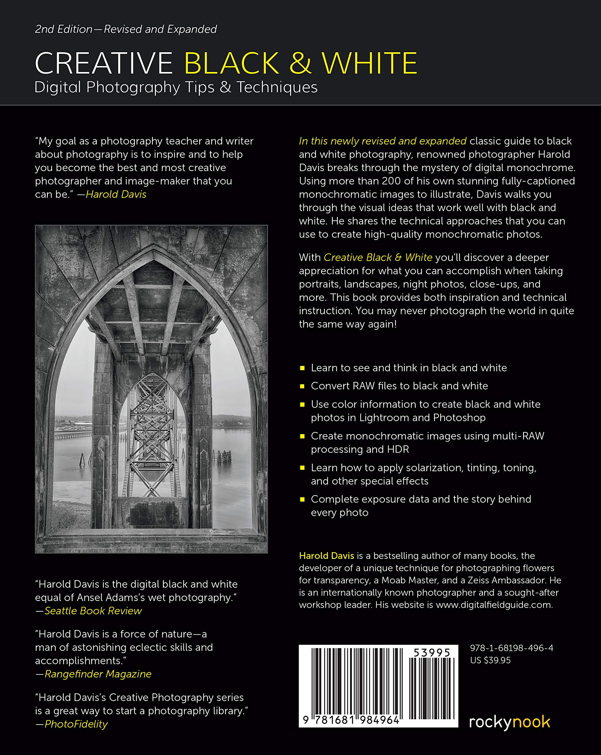 Creative Black And White Digital Photography Tips And Techniques Davis Harold 9781681984964 Photography Amazon Canada