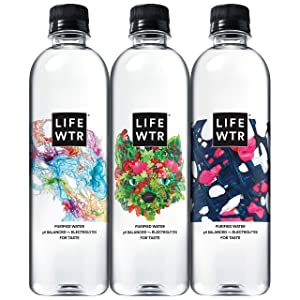 LIFEWTR Premium Purified Water, 500 mL (12 Count)