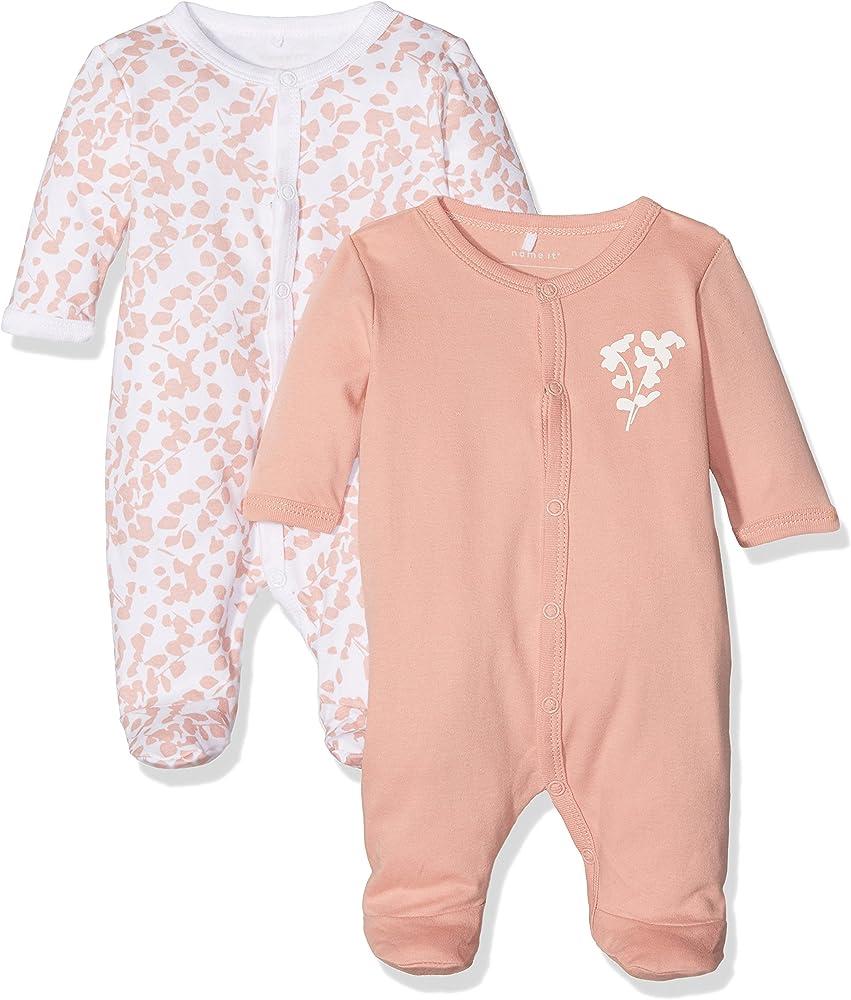874affef1232b MoisNAME IT - Nbfnightsuit 2p W/f Rose Tan Noos - Pyjama Bébé - lot ...