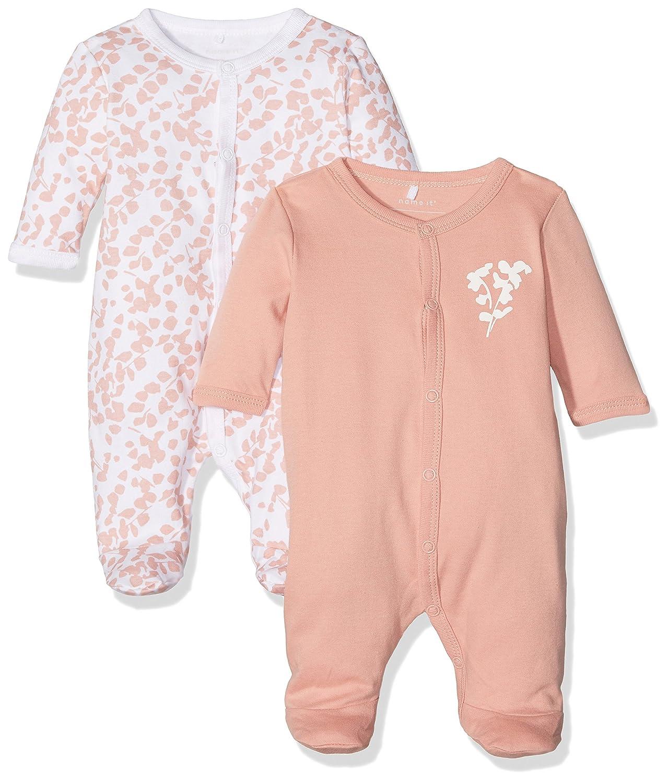 NAME IT Baby-M/ädchen Schlafstrampler Nbfnightsuit 2P W//F 2er Pack