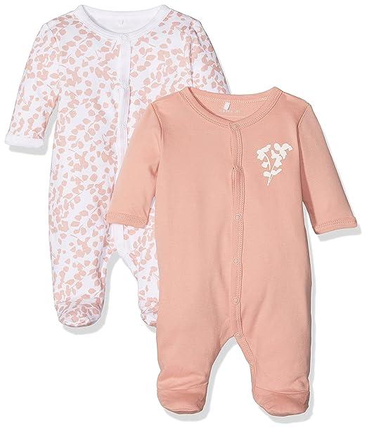 NAME IT Nbfnightsuit 2p W/f Rose Tan Noos, Pijama para Bebés (Pack