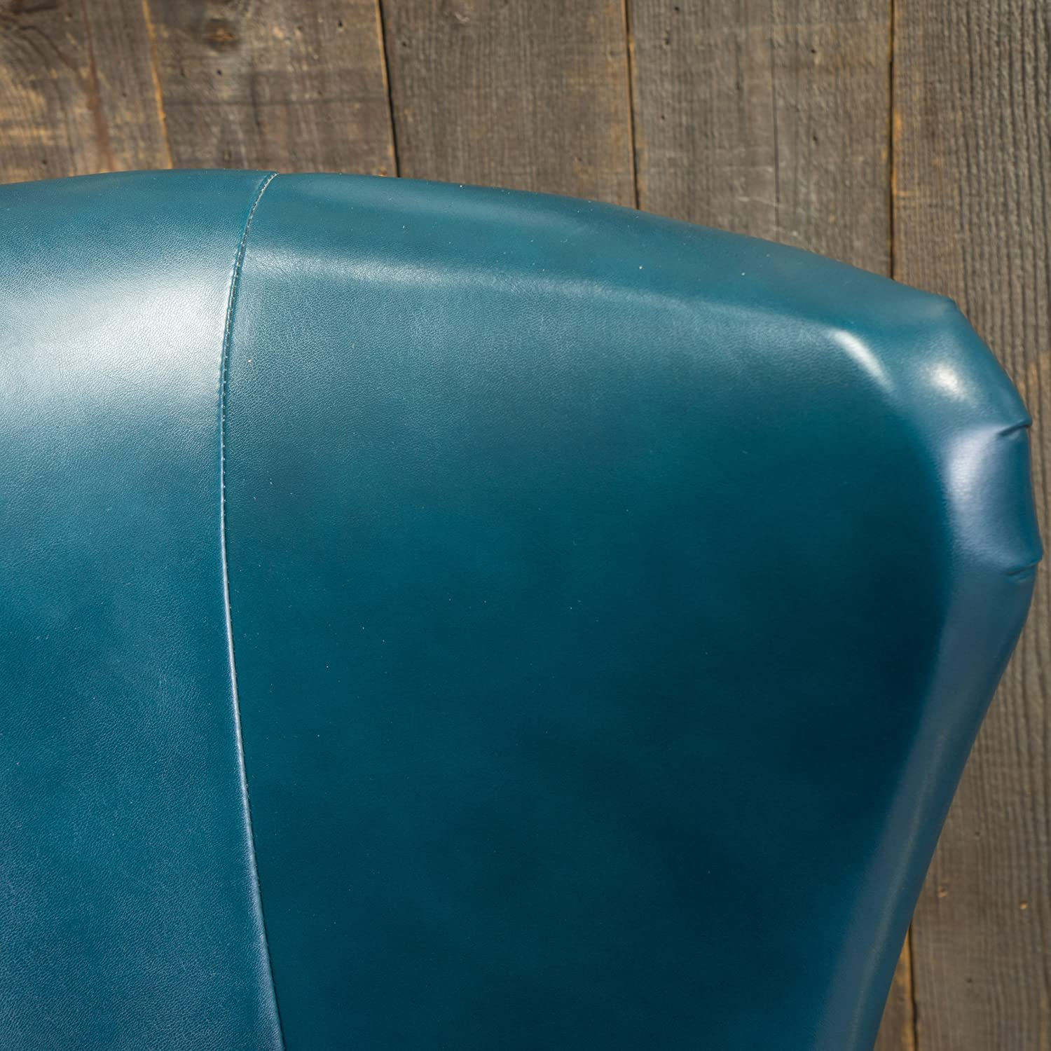 Amazon Jameson Tall Wingback Teal Blue Leather Club Chair