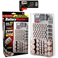 Bell and Howell Battery Master, the Original Wall-Mount Storage, Holder Fits 93-Batteries with Battery Tester for AAA AA 9V C and D Size Batteries As Seen On TV