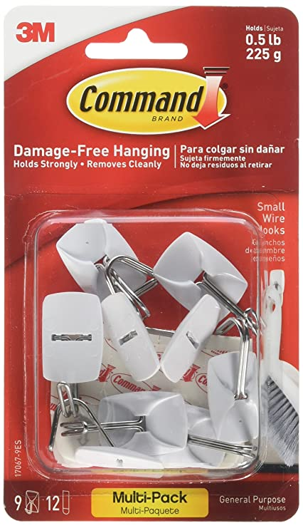 Command Strips 17067-VP Small Command Wire Hooks Value Pack 9 Count - - Amazon.com