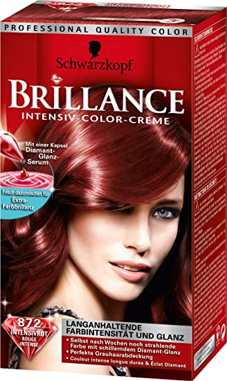 Schwarzkopf Brillance Intensiv Color Creme Stufe 3 872 Intensivrot
