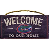 """NCAA Florida Gators 12"""" x 6"""" Distressed Welcome to Our Home Wood Sign"""