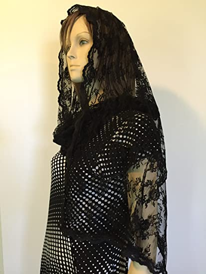 NEW Rectangle Wrap-Style Mantilla Chapel Veil Scarf Head Covering