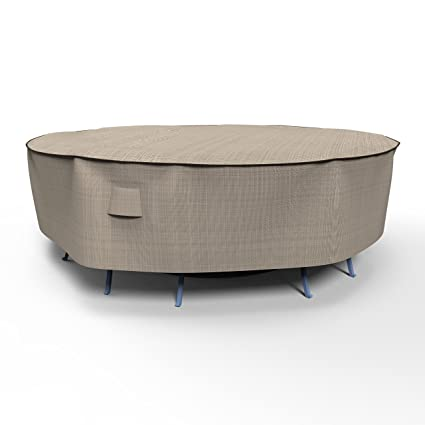 Amazon Com Empirepatio P5a02pm1 Tan Tweed Large Round Table And