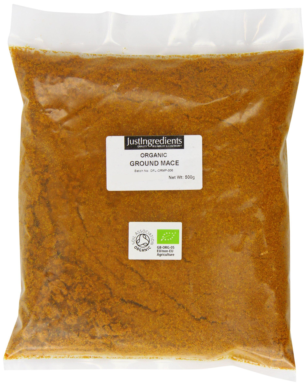 JustIngredients Organic Ground Mace Loose 500 g