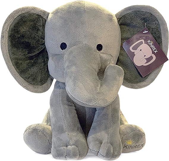 KINREX Stuffed Elephant Animal Plush - Toys for Baby