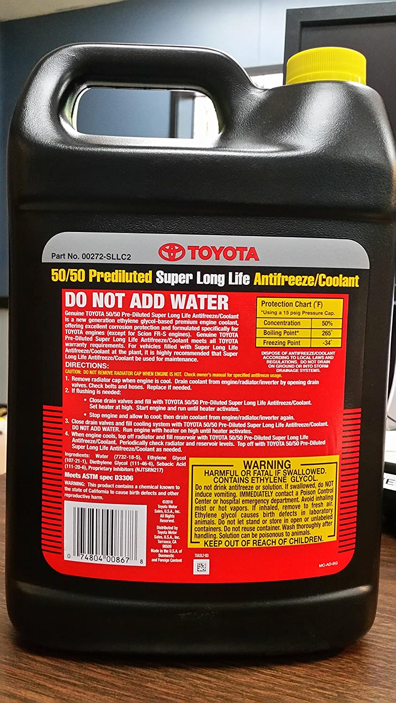 Toyota Genuine Fluid 00272-SLLC2 Long Life Coolant, 1-Gallon