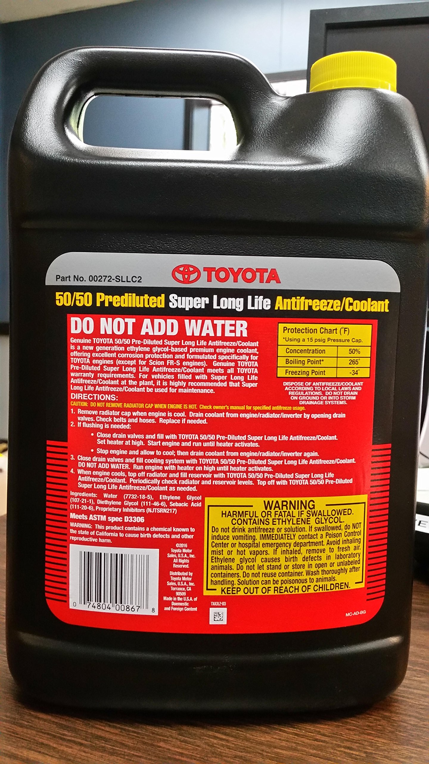 Galleon Toyota Genuine Fluid 00272sllc2 Long Life