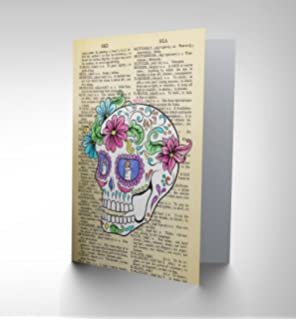 Decorative skull day of the dead greetings card cp1130 amazon greetings card birthday gift sugar skull dictionary cp2865 m4hsunfo