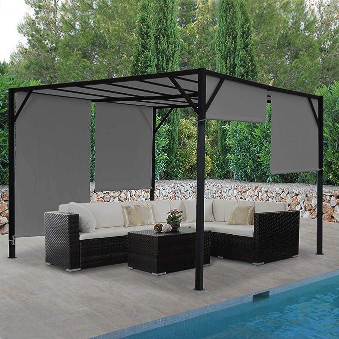Mendler Pergola Baia, jardín cenador Terrassenüberdachung, estable ...