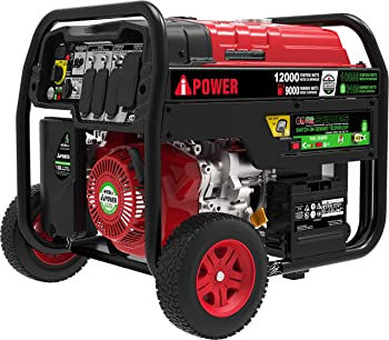 A-iPower SUA12000ED 12,000 Watt Dual Fuel Portable Generator Propane or Gas