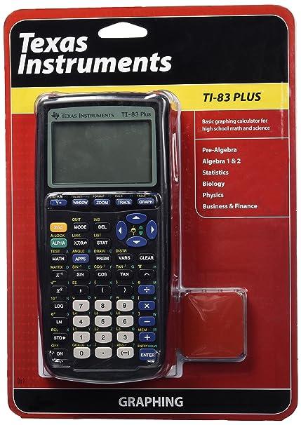 Amazon.com: Texas Instruments TI-83 Plus Graphing Calculator ...