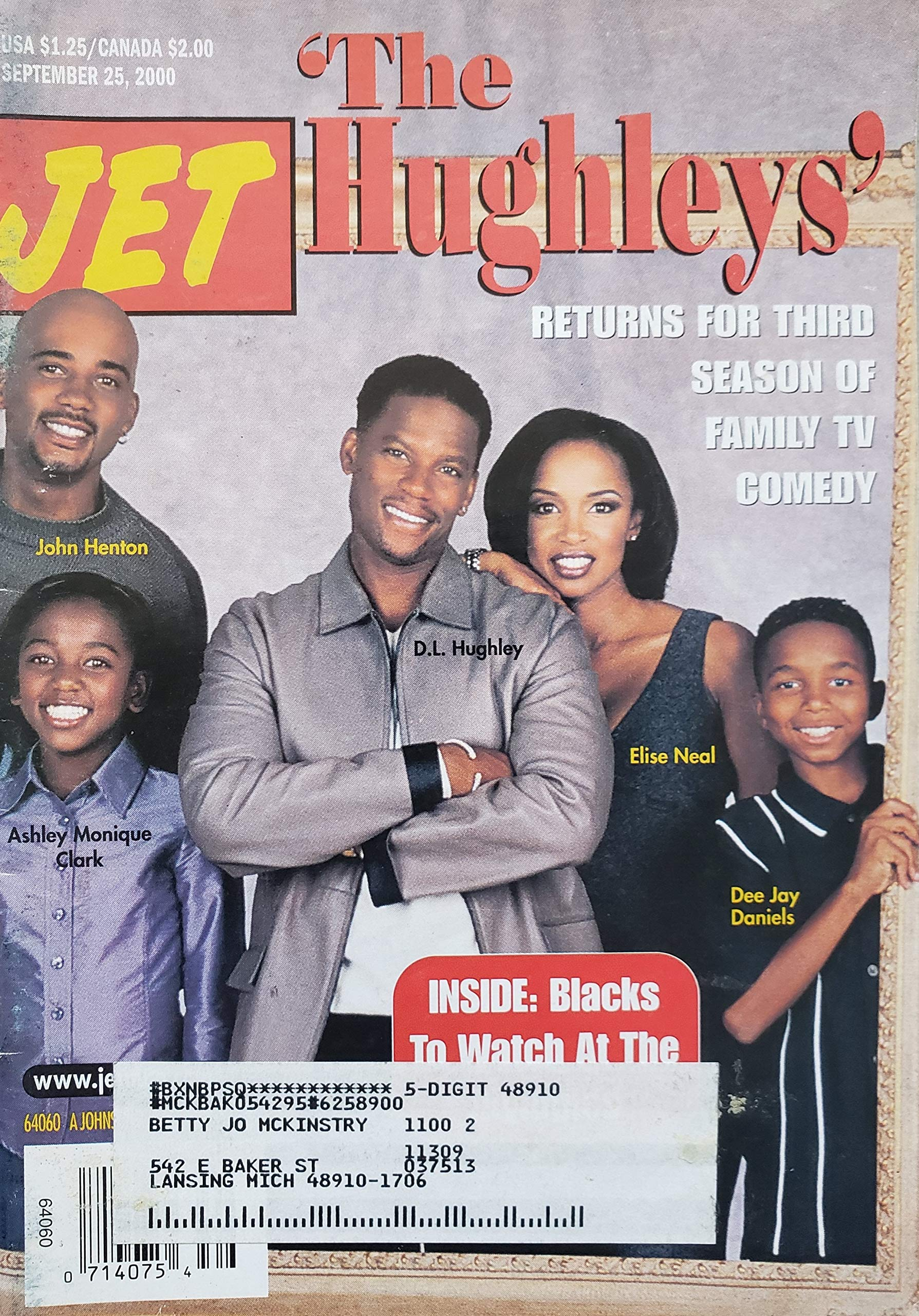 Jet Magazine September 25 2000 The Hughleys Returns For Third Season Of Family Tv Comedy Jet Magazine Amazon Com Books