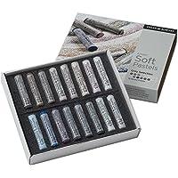Daler-Rowney 86650107 - Artists Soft pastelkrijtset 16 stuks, grijstinten