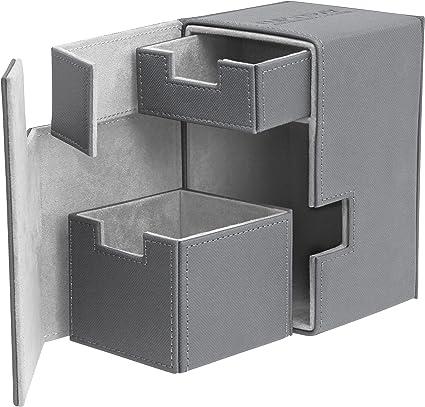 Ultimate Guard TWIN FLIP/'n/'TRAY XENOSKIN™ DECK CASE 200 BLACK