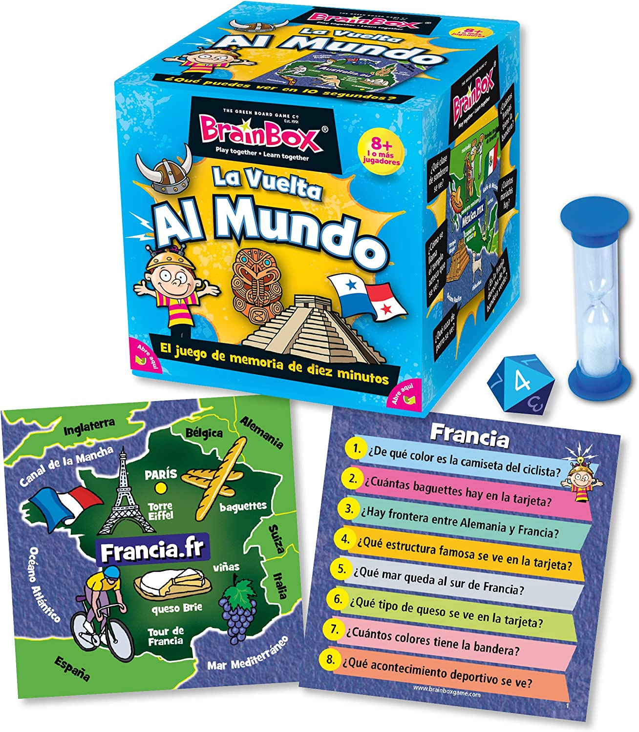 Brain Box Juego de Memoria Al Mundo, Multicolor (Green Board Games ...