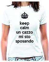 """T-shirt Addio al nubilato """"Keep calm un c… mi sto sposando"""" - Maglia donna"""