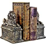New York Public Library Lion Bookends, Vintage Finished