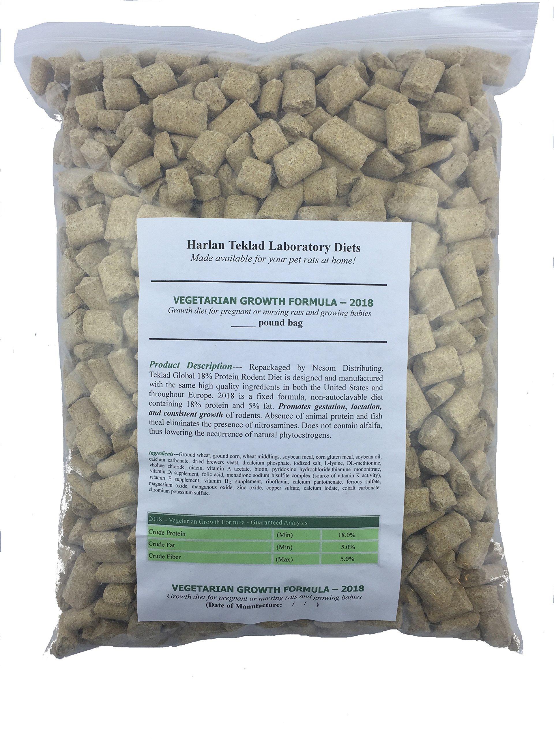 Nesom Distributing Envigo (Formerly Harlan) Teklad Growth Rat Food Diet Global 2018 (20lbs) by Nesom Distributing (Image #2)