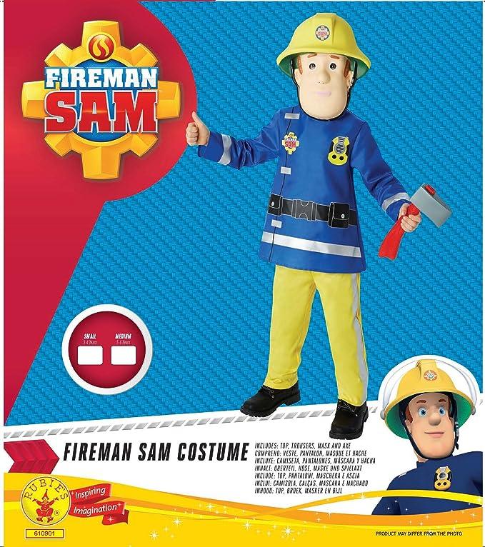 Amazon.com: Sam el bombero disfraz infantil de disfraz 3 – 4 ...