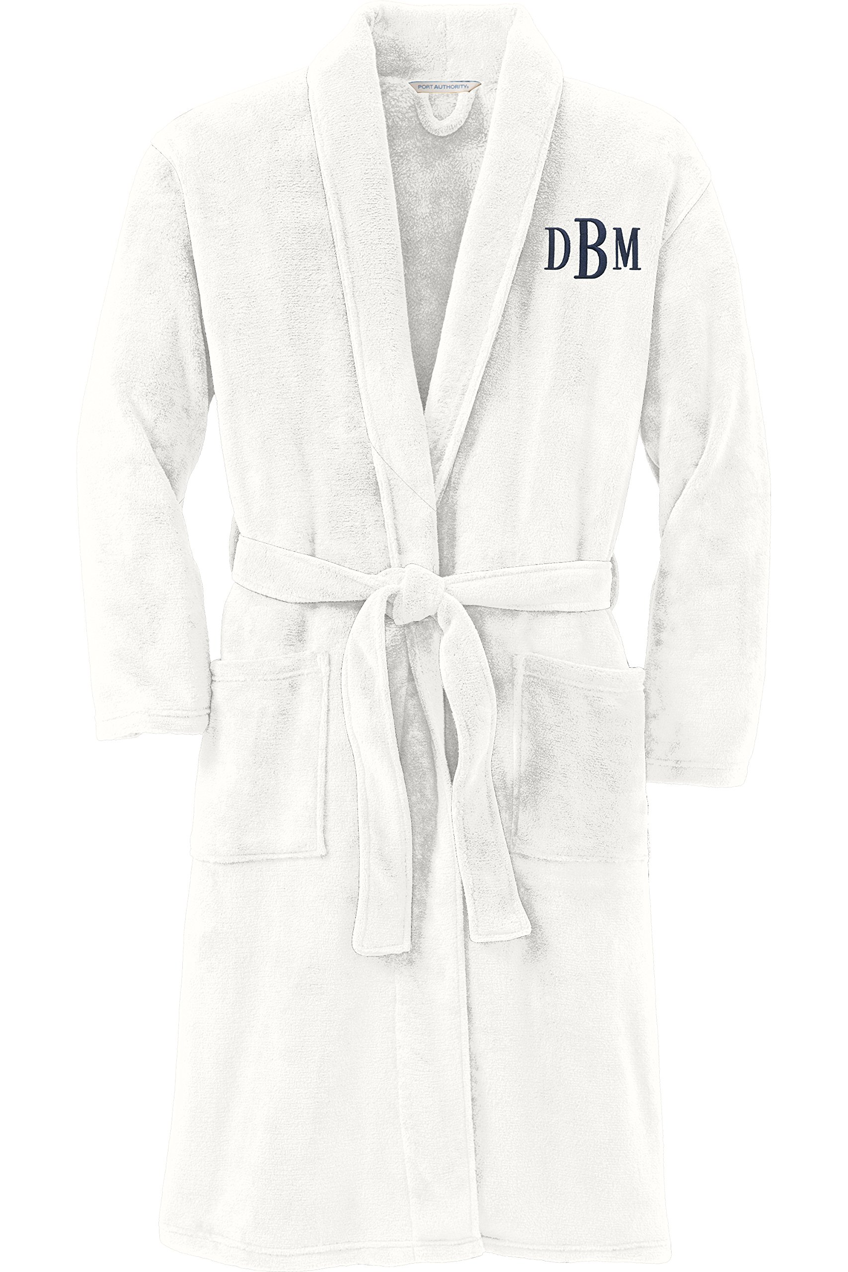 Personalized Plush Microfleece Robe with Embroidered Name, Marshmallow, Small/Medium
