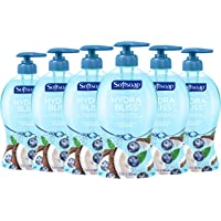 6-Pack Softsoap Hydra Bliss Liquid Hand Soap, Coconut Water and Blueberry - 11.25 fluid ounce