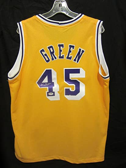 23e3dcc9c32 AC Green Custom Yellow Signed Los Angeles Lakers Jersey PSA DNA at Amazon s  Sports Collectibles Store