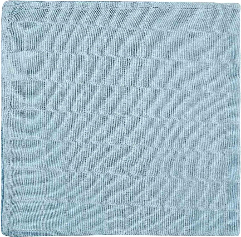 Dudu N Girlie Premium Cuadrados de Muselina para beb/é 6 Piezas 70 x 70 cm Color Azul