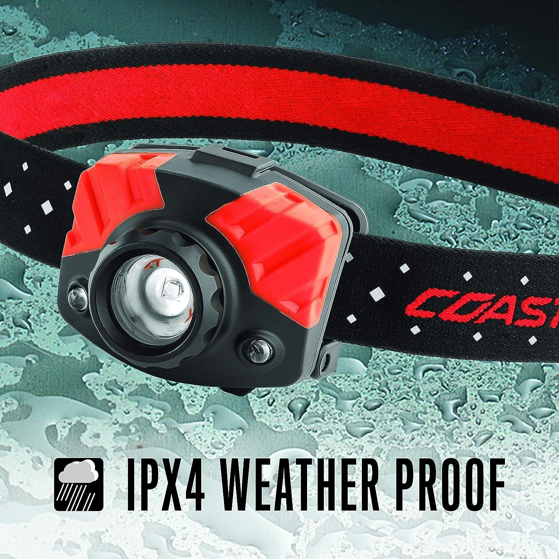 Red COAST FL75R Rechargeable 530 Lumen Dual Color Focusing LED Headlamp