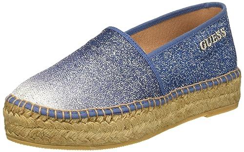 Guess Glitter Fabric, Mocasines para Mujer, Azul, 35 EU: Amazon.es: Zapatos y complementos