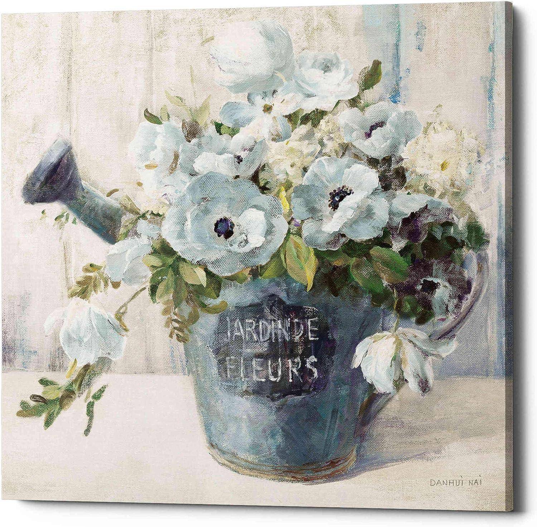 Epic Graffiti 'Garden Blooms II Blue Crop' by Danhui NAI Canvas Wall Art, 26