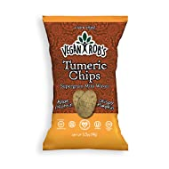 Vegan Rob's Supergrain Chips, Turmeric | Made with Brown Rice, Quinoa, Pumpkin, Flax & Chia Seed, Gluten-Free & Vegan Snack | 3.5 Ounce Bags (12 Count)