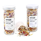 Amazon Price History for:AMAKI SKINCARE  Flowers and Salts Bath Soak Set with Lavender Essential Oil, Dried Rose Petals, Lavender, Calenlular and Chamomile Flowers (2 Pack), 8 oz