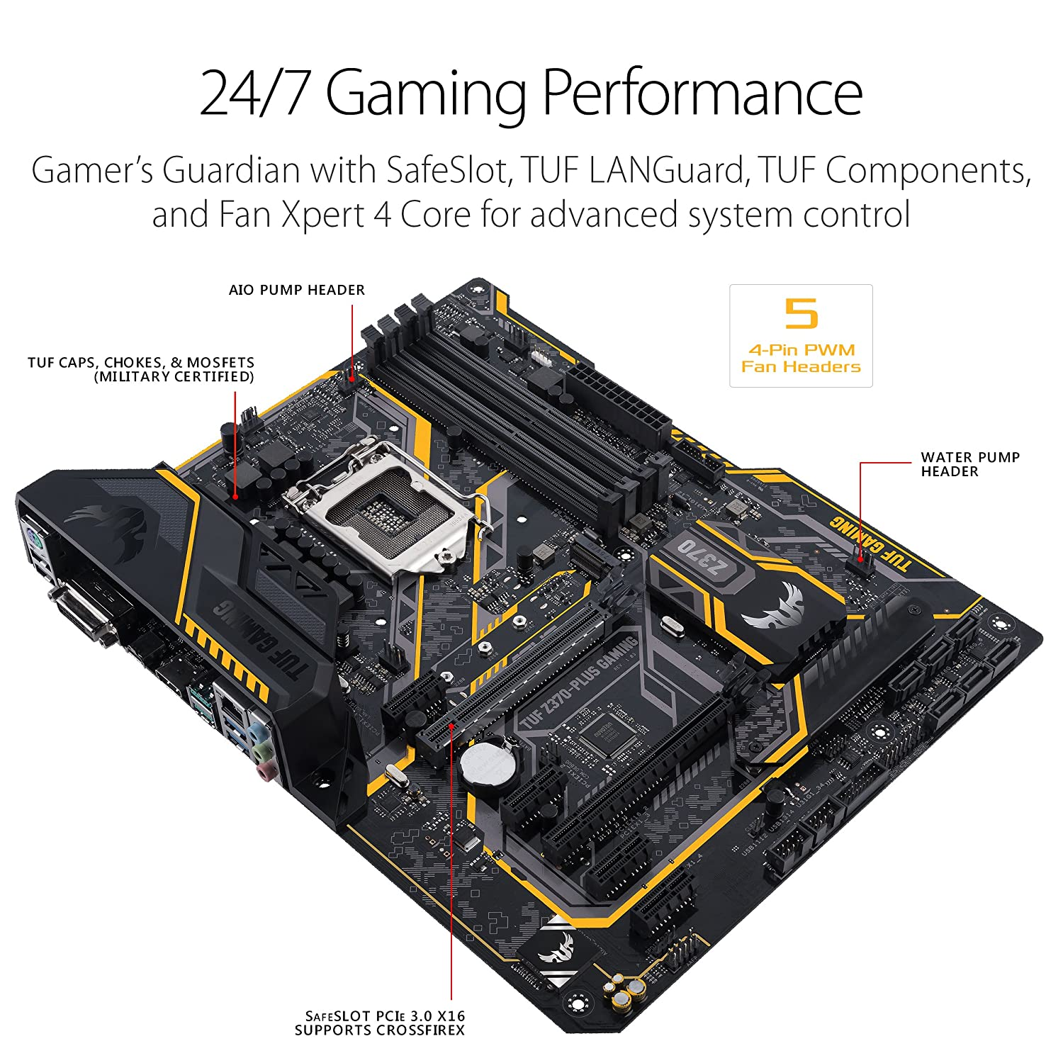 Buy Asus Tuf Z370 Plus Gaming 8th Generation Intel Lga Charger Wiring Diagram 1151 Atx Motherboard Online At Low Prices In India Reviews Ratings