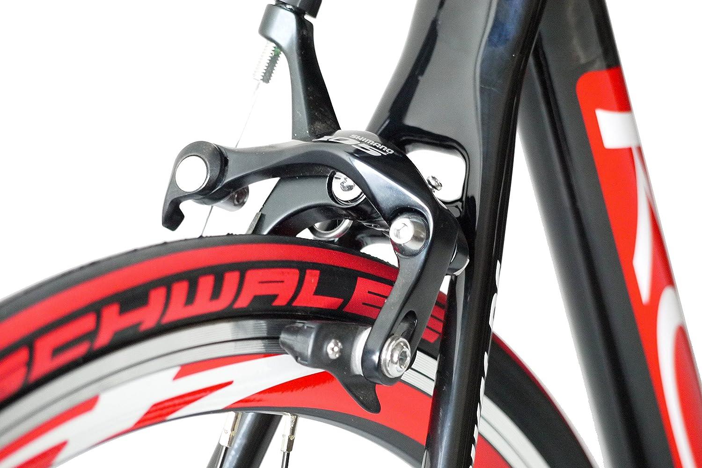 Shimano 105 - Rueda de bicicleta de carreras KCP de carbono (28 ...