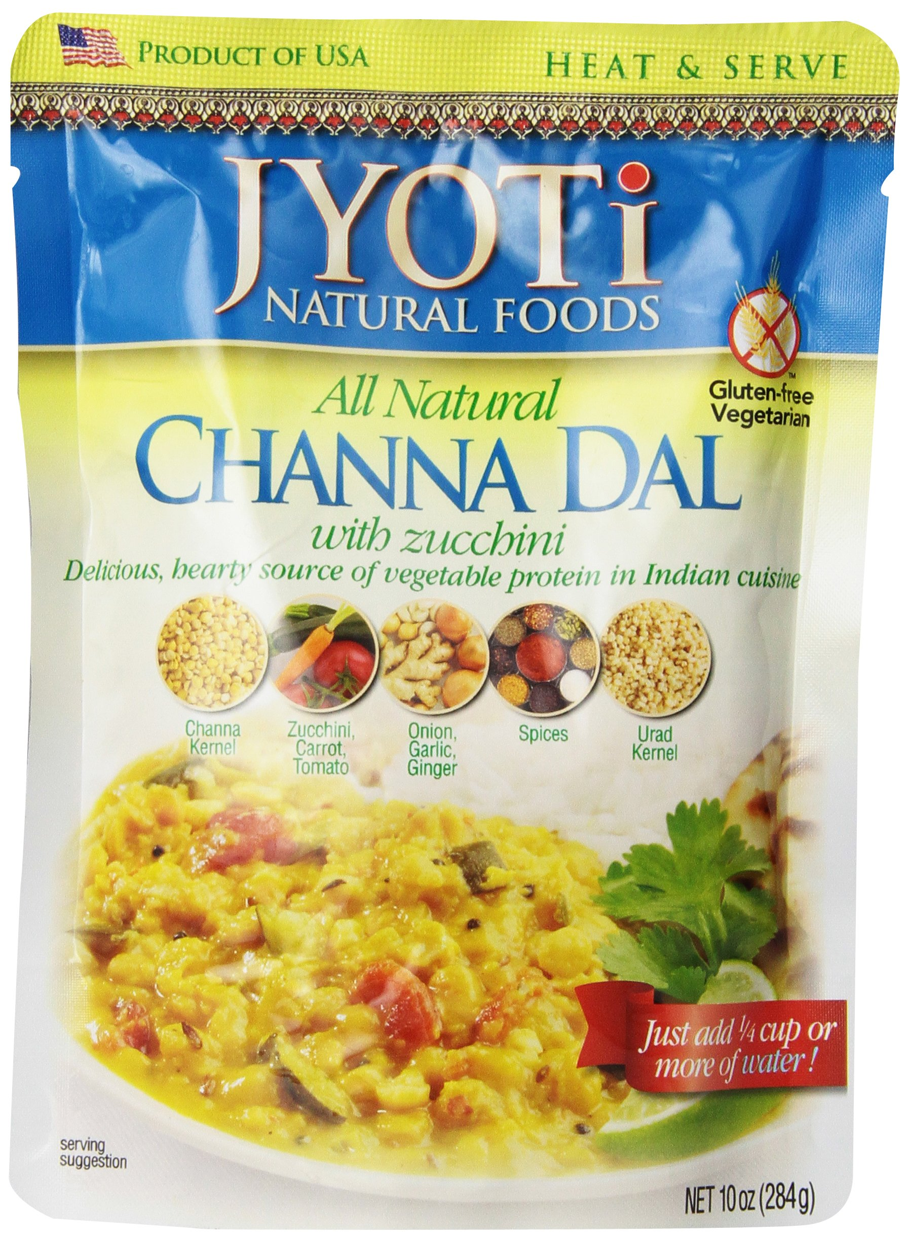 Jyoti Natural Foods Channa Dal with Zuchhini, 10-Ounce (Packaging may vary slightly)