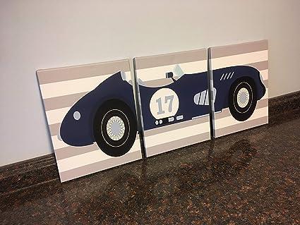 Amazoncom Canvasprtint Race Car Nursery Race Car Wall