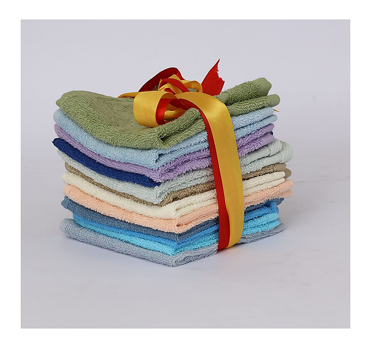 12 X 12 Solutions Washcloth 12 Pack Inc Active50 Solutions 1-E-A3-12 12 X 12 100 Percent Extra Soft and Absorbent Ring 100/% Cotton Assorted Colors