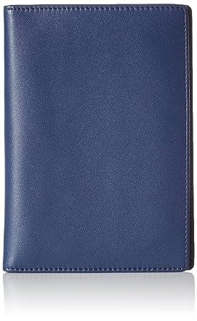 AmazonBasics - Cartera de piel para pasaporte con bloqueo para RFID, color azul marino: Amazon.es: Equipaje