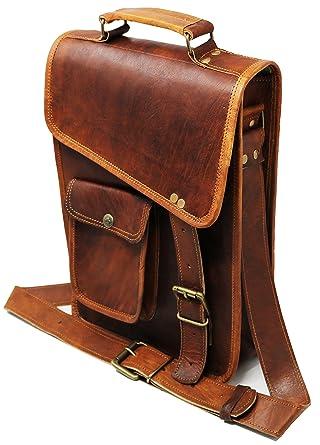 69624f9170 Image Unavailable. Image not available for. Color  Jaald 11 quot  Stylish  Men s Genuine Leather Brown Shoulder Messenger Passport Bag Murse medium