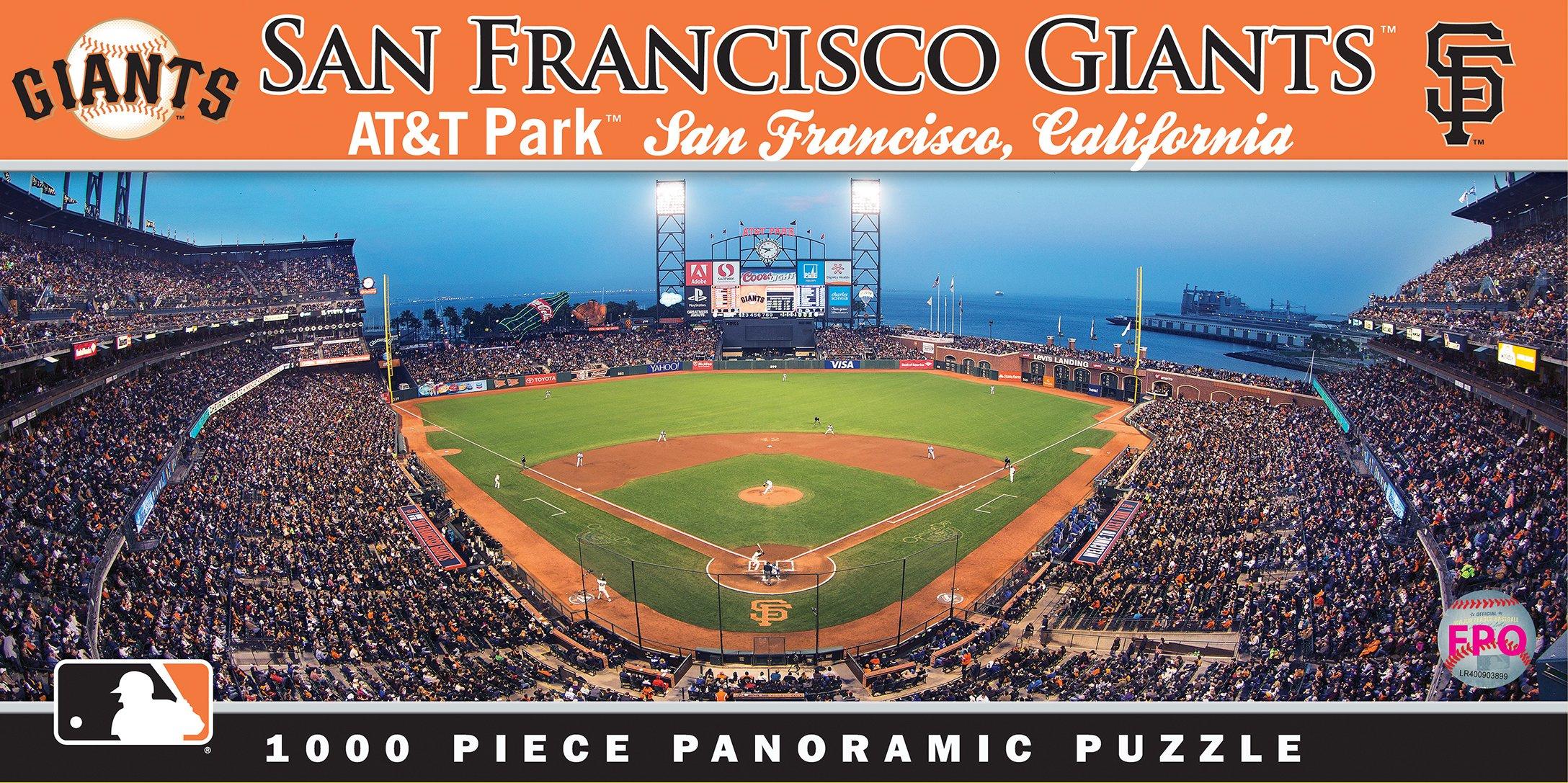 MasterPieces MLB San Francisco Giants Stadium Panoramic Jigsaw Puzzle, 1000-Piece