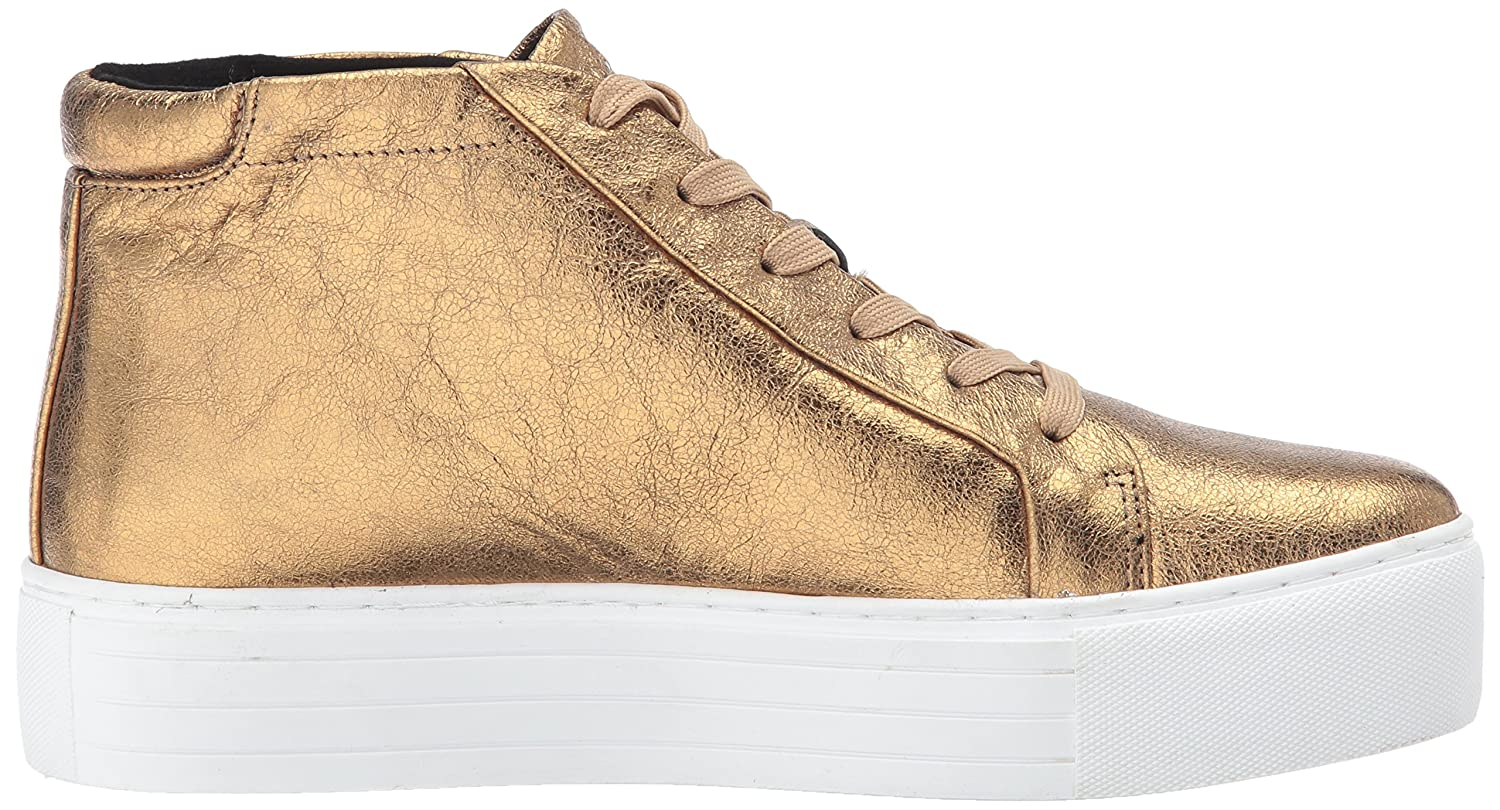 Kenneth Cole New York Women's Janette High Top Lace up Platform Patent Fashion Sneaker B071NND9RQ 7 M US|Gold