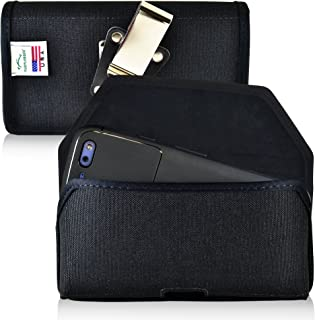 product image for Turtleback Belt Clip Case Made for Google Pixel Black Holster Nylon Pouch with Heavy Duty Rotating Belt Clip Horizontal Made in USA
